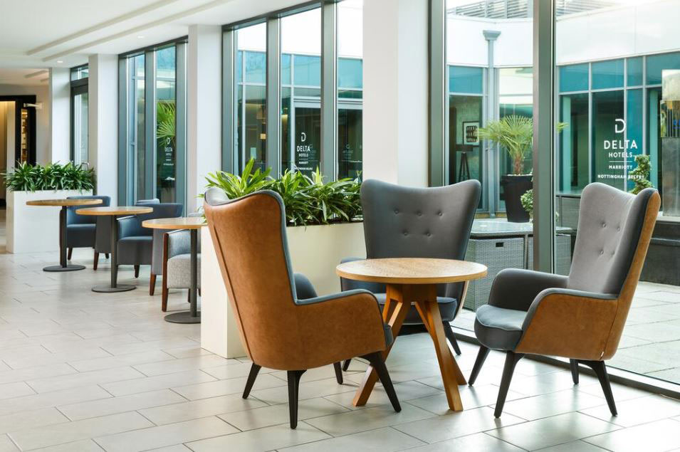 Contract furniture table and chairs for Delta Hotel