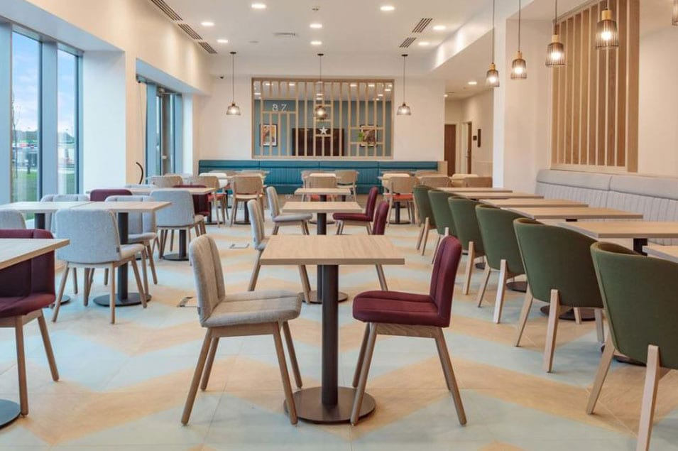 furniture in dinning area of hotel