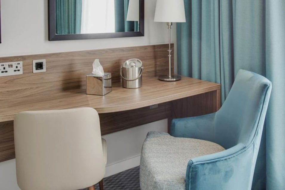 Bedroom furniture with table