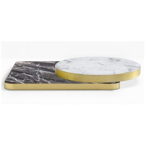 Laminate & Brass ABS Edging Table Tops