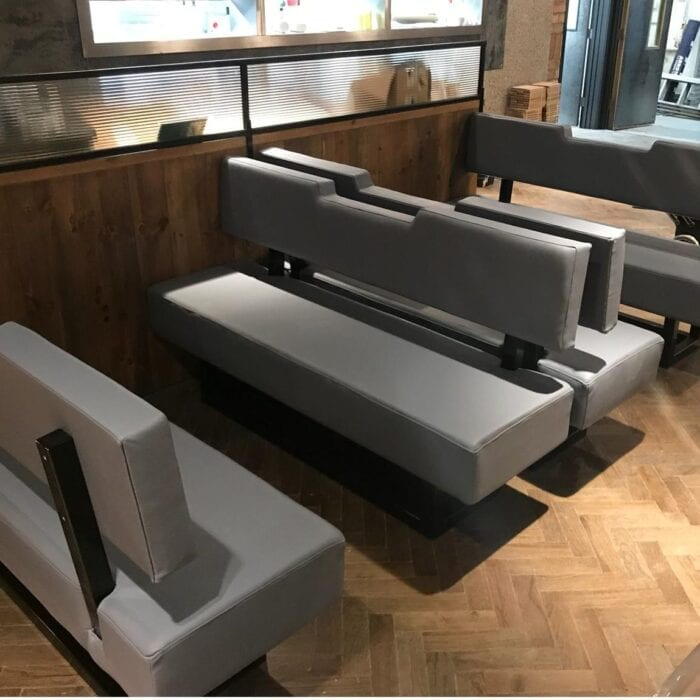 grey contract furniture seating in restaurant
