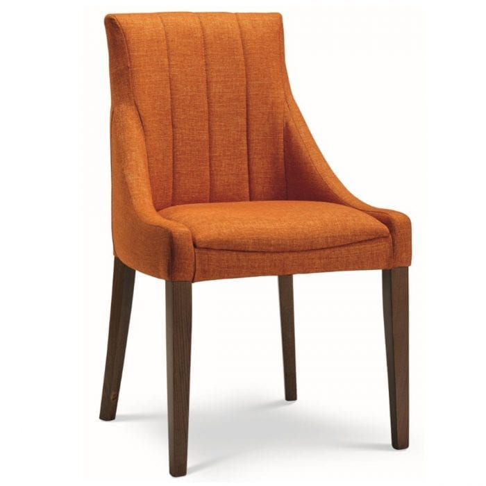 fluted back chair upholstery
