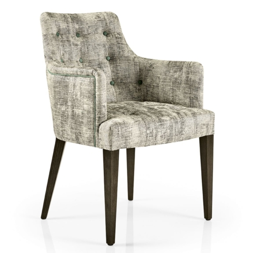hanna dining armchair with buttoned inner back