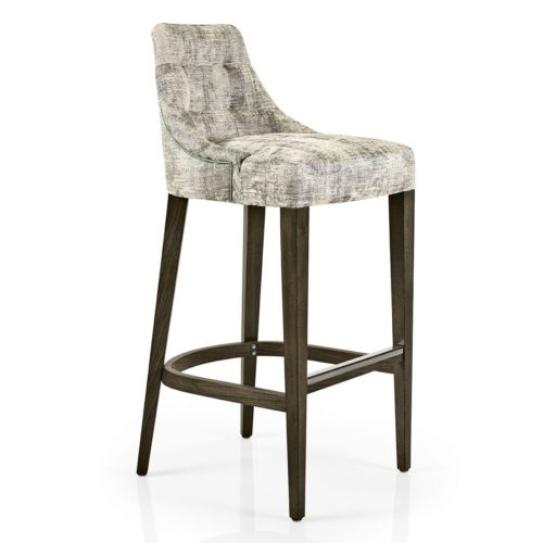 hanna bar stool with quilted inner back