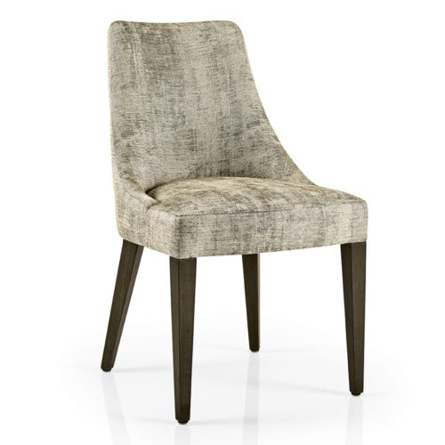 dining chair with plain upholstery