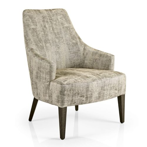 front view of hanna lounge armchair plain upholstery