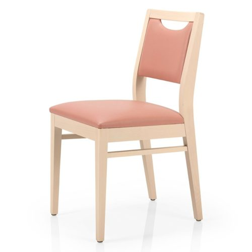 front view of the betty chair with gap in back rest for easy moving