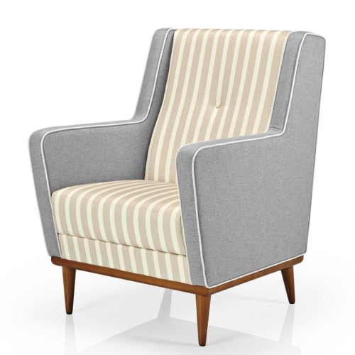 front view of the low back morgana armchair suitable for the healthcare environment