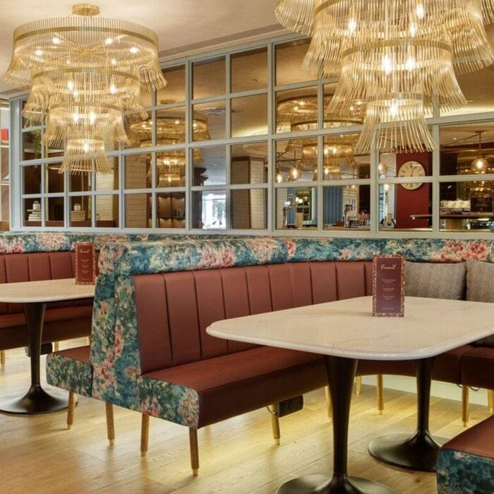 Contract Furniture Banquette seating in hotel