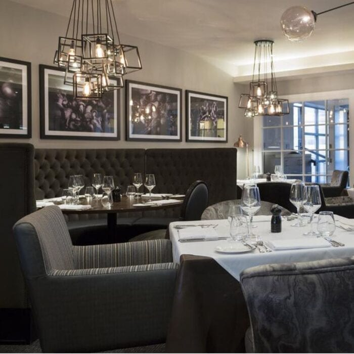 comfortable dinning experience with grey contract furniture