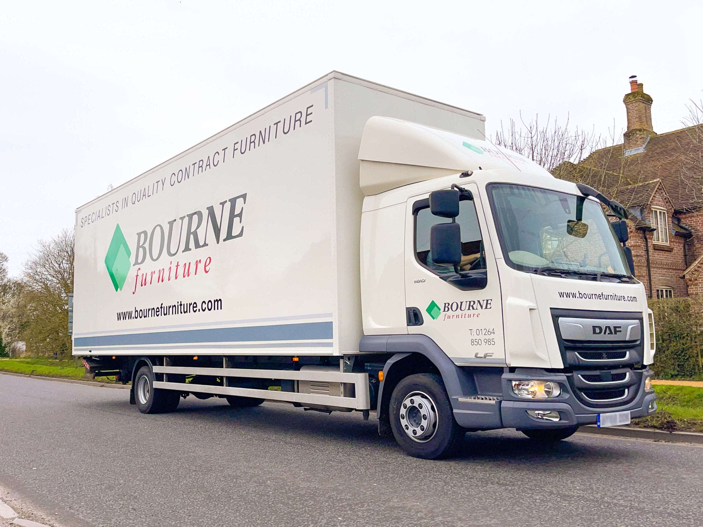 Contract furniture delivery truck