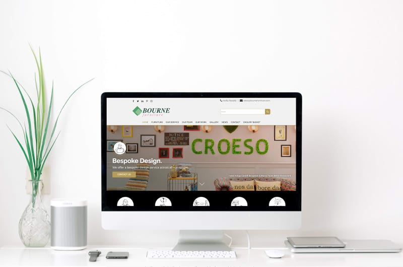 Website page on computer
