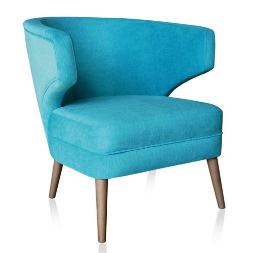 stylish lounge armchair with wooden legs