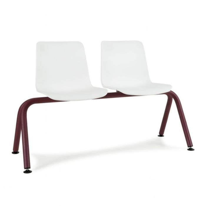 Front view of 2 seater Cool Bench with polypropylene seats