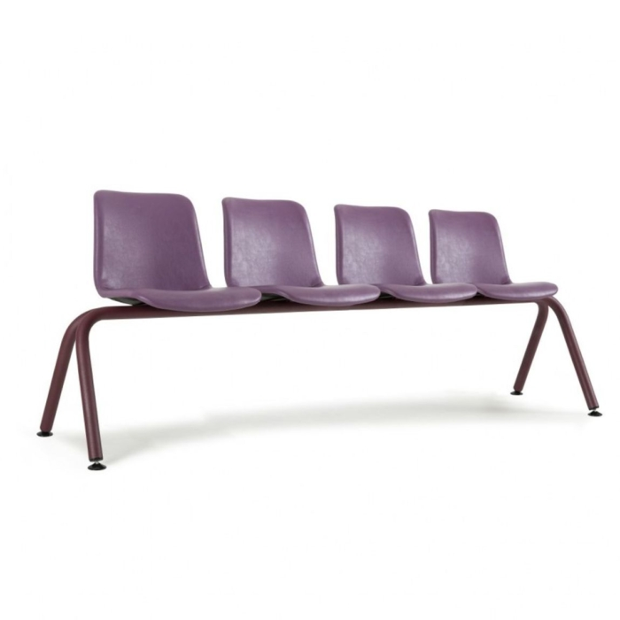 Cool large bench suitable for reception areas Upholstered seats and metal frame