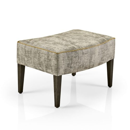 hanna footstool with piping detail
