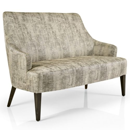 front view of hanna sofa with plain upholstery