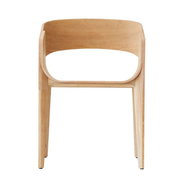front view of Slim armchair with no upholstery