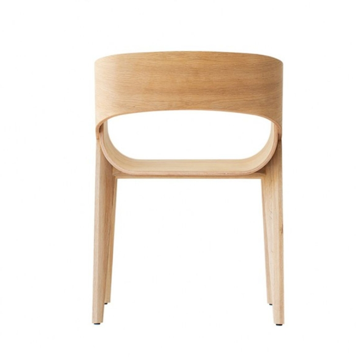 reverse view of Slim armchair no upholstery