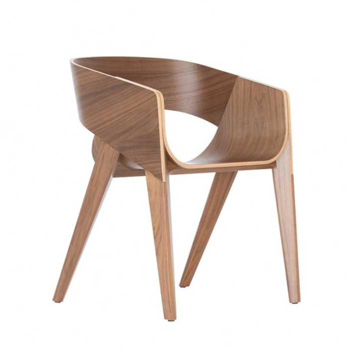 wooden seat and frame Slim armchair
