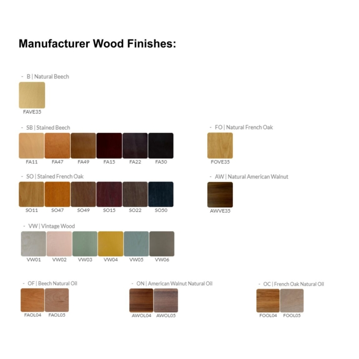 image showing the manufacturer range of wood stains