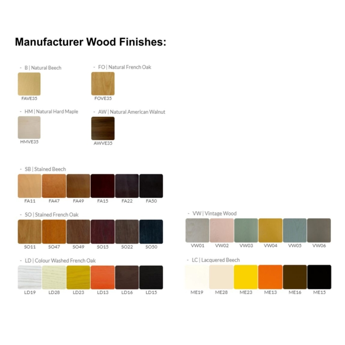 image showing the range of manufacturer wood stains