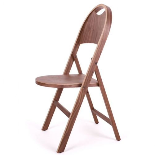 Alternative wood stain view of the Slim folding chair