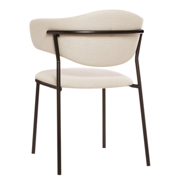back view wof the sweetly armchair, perfect for dining