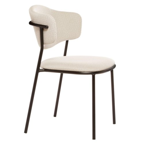 slightly angled view of the sweetly chair with upholstered seat and back