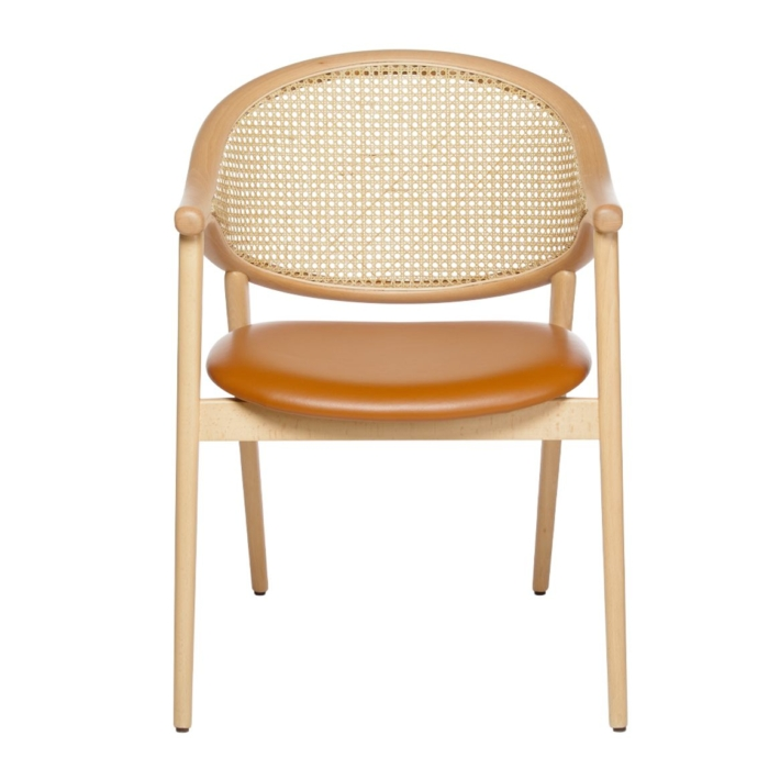 Wooden contract furniture armchair
