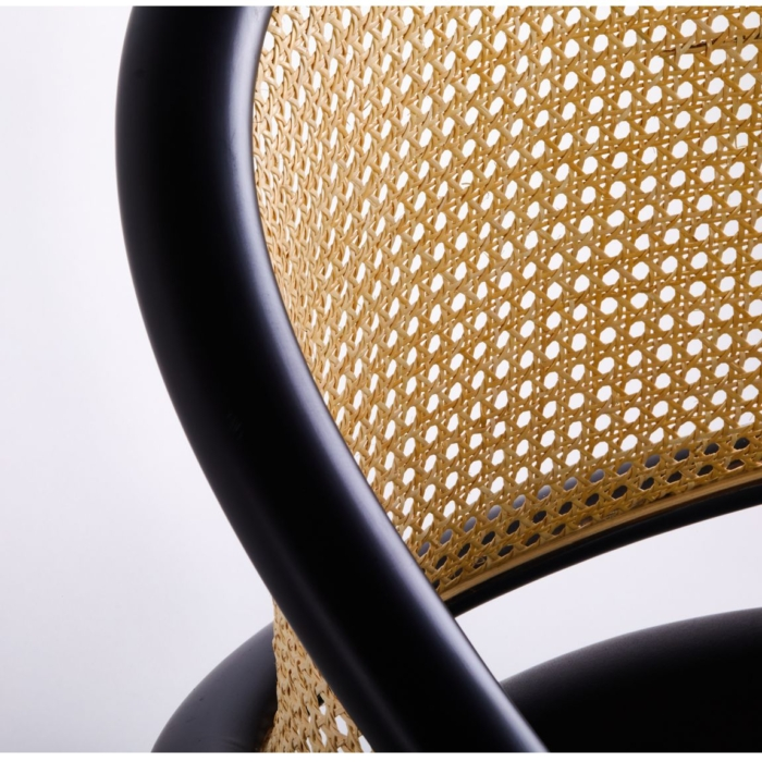 Close up of wooden armchair