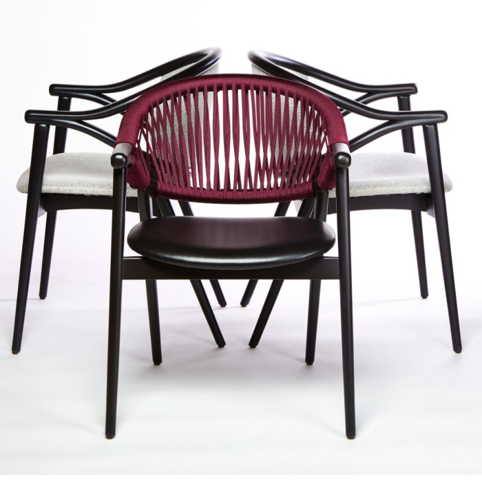 triple view of umami armchair contract standard