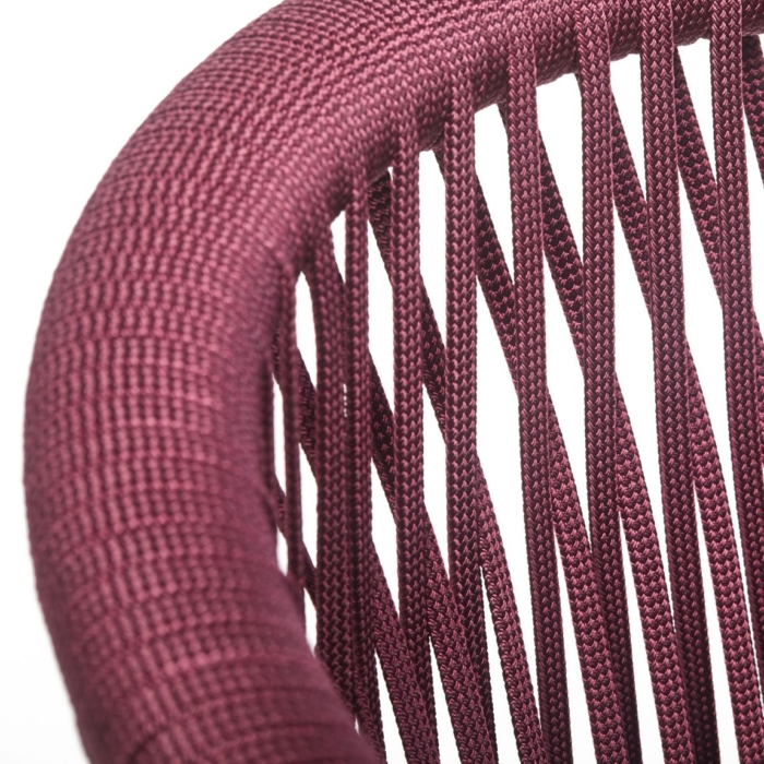 close up of rope back rest