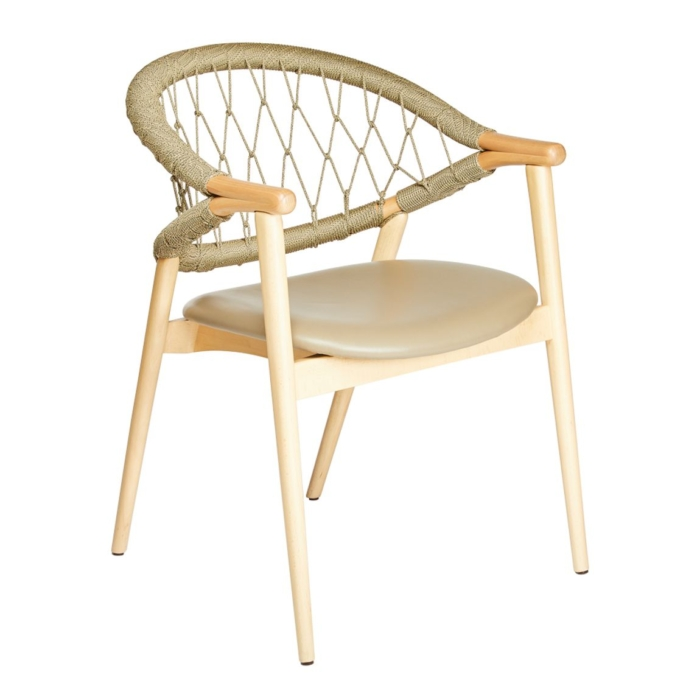 umami armchair showing the rope style back rest