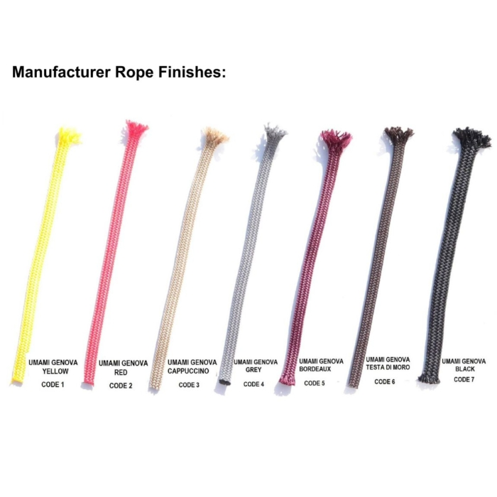 image showing the different finishes of the rope