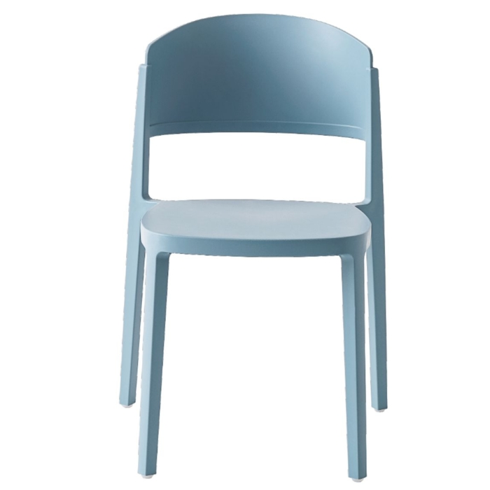 front view of the abuela chair with a polypropylene frame