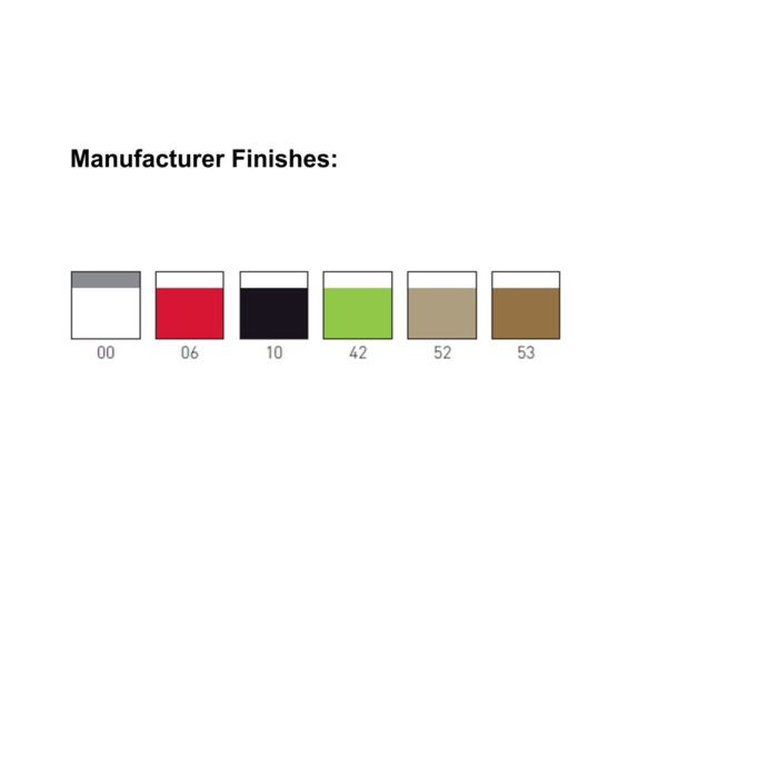 image showing the techonpolymer finishes available on the Blog stool