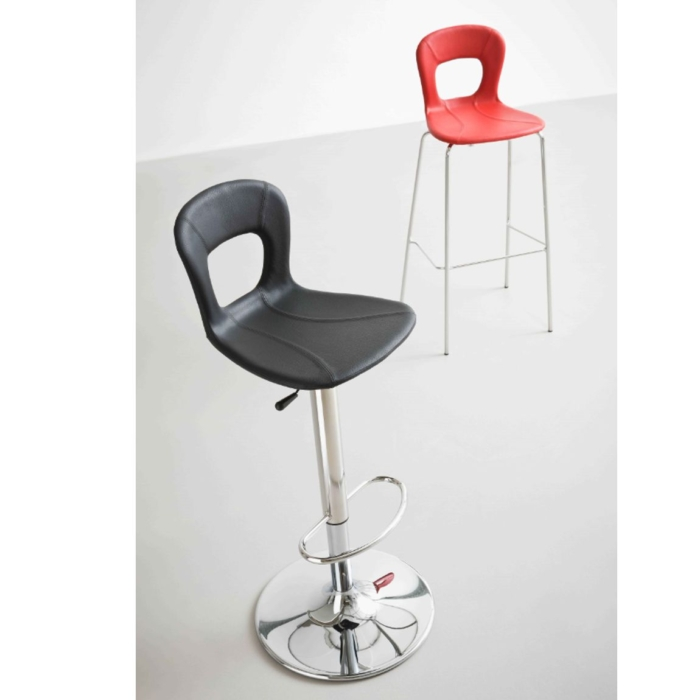 picture showing the upholstered version of the blog bar stool