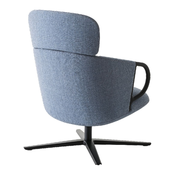back view of the highback swivel lounge