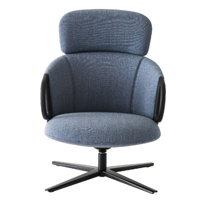 front view of highback swivel armchair
