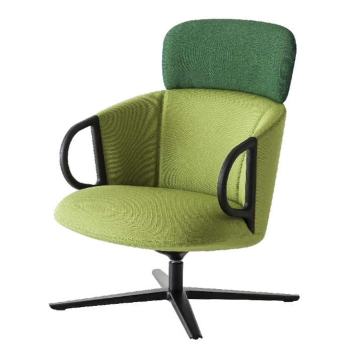 swivel armchair showing example of split upholstery