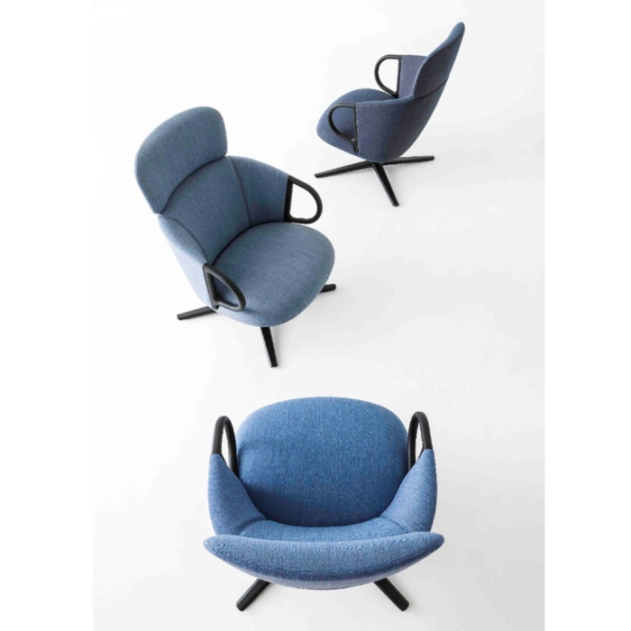 birds eye view of the swivel highback and armchair