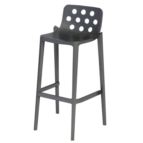 polypropylene stool with design holes in the back rest