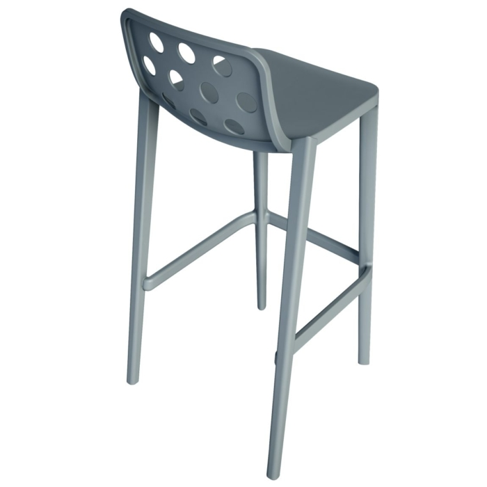 back view of bar stool suitable for contract use
