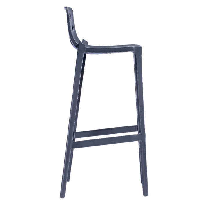 side view of bar stool