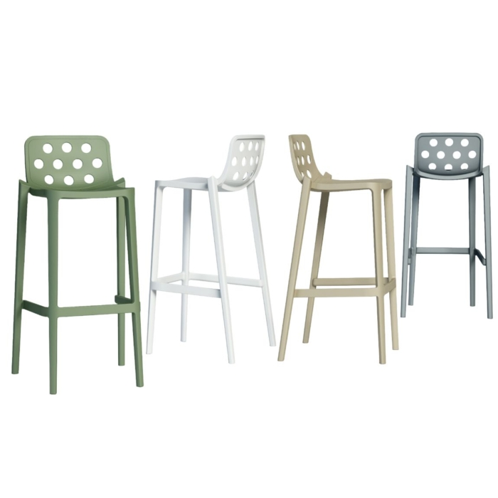 group shot showing different angles of isidoro stool