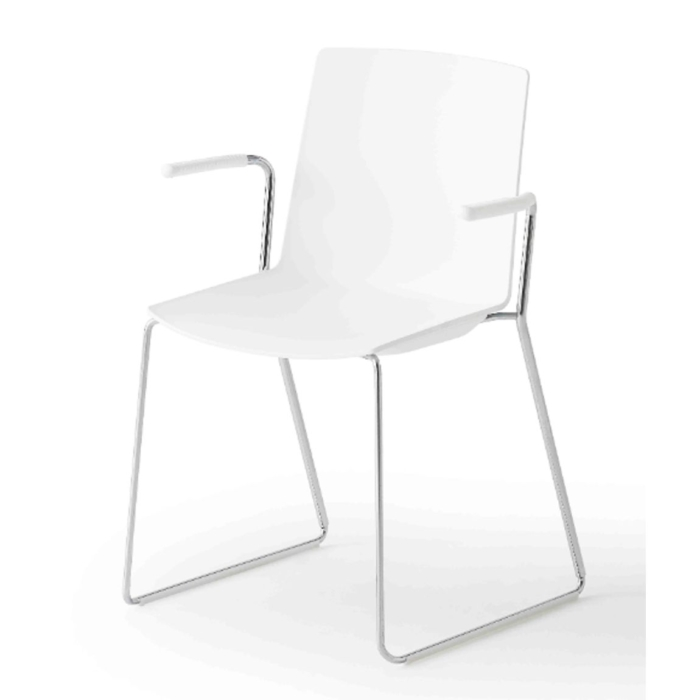 jubel armchair with metal sled base