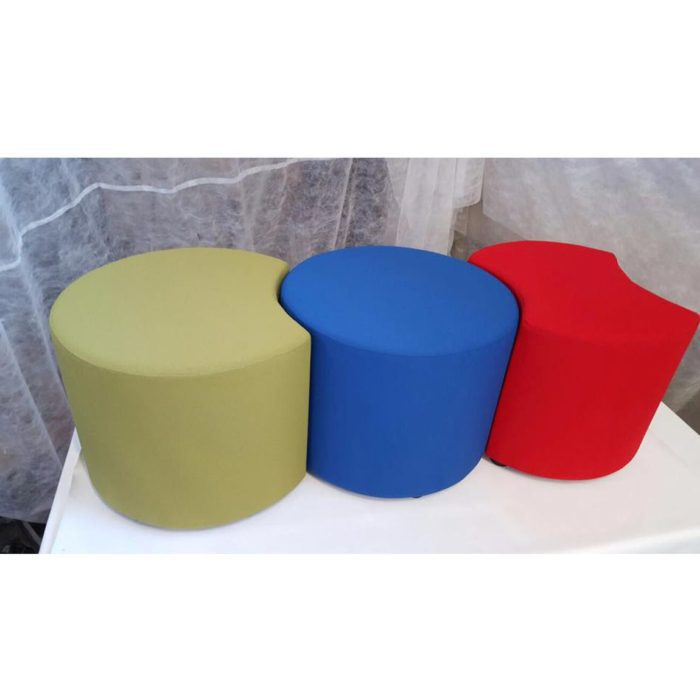 group shot of apple stools that can be fitted together
