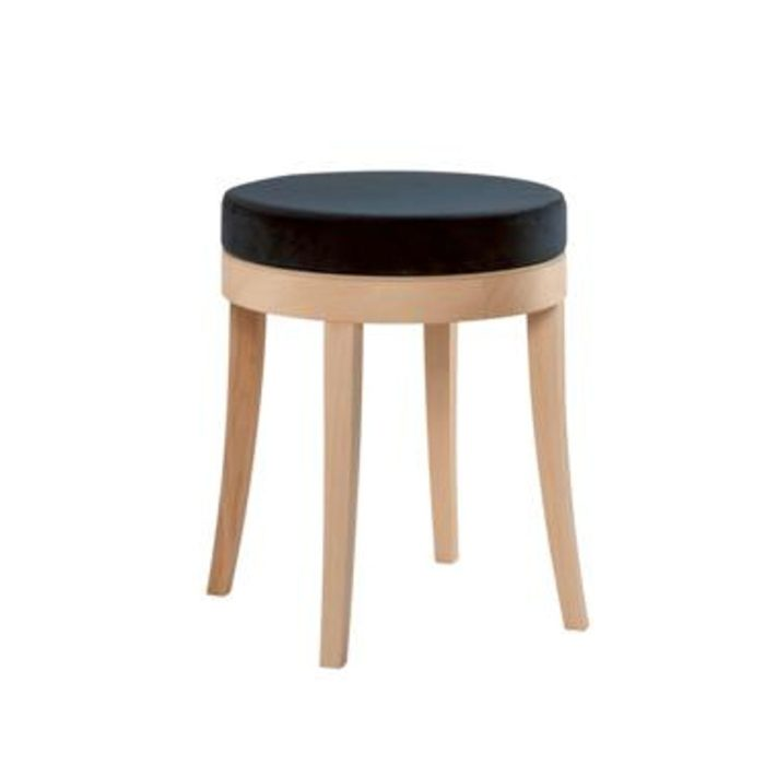 low stool with thick seat pad