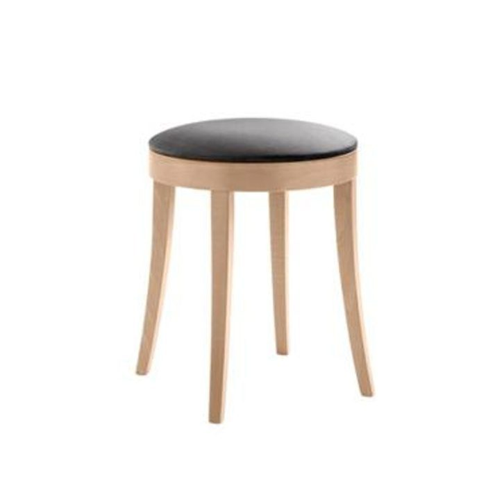 bacco low stool with thinner seat pad